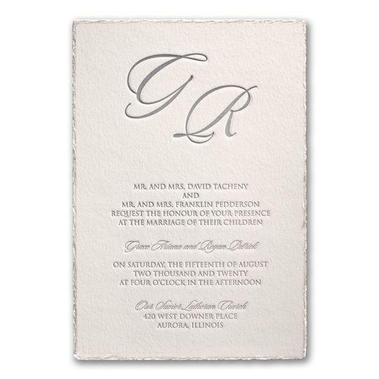 Pearl letterpress invitation