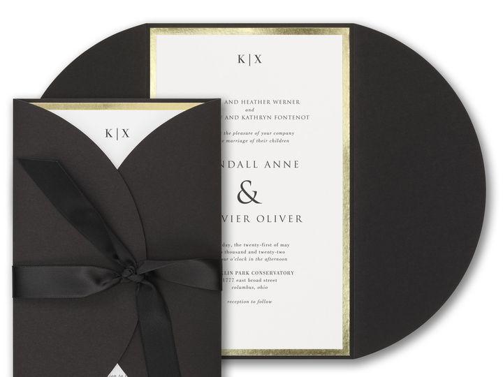 Tmx Black Gate Fold 51 540138 157377967799121 Rexford, NY wedding invitation