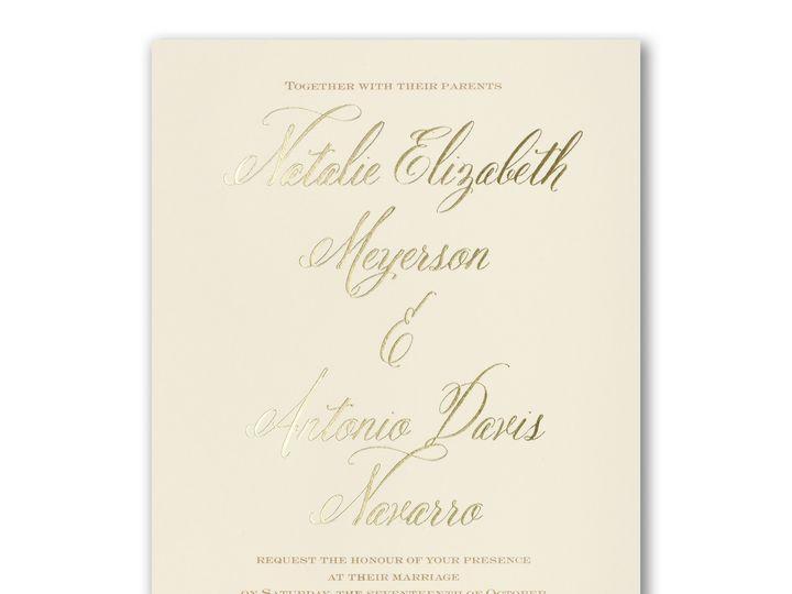 Tmx Gold Foil Invitation 51 540138 157377918997726 Rexford, NY wedding invitation