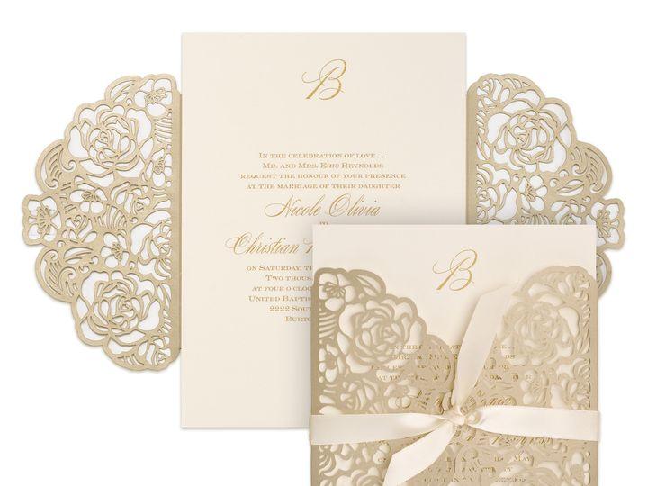 Tmx Laser Cut Gate Fold 51 540138 157377859439570 Rexford, NY wedding invitation