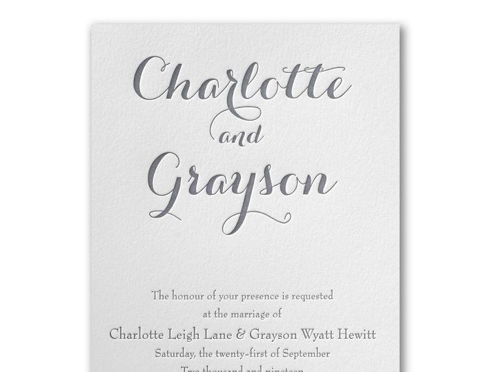 Tmx Letterpress Invitation 51 540138 157377927827854 Rexford, NY wedding invitation
