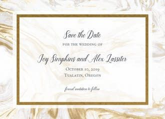 Tmx Std Marble Foil 51 540138 157378044370407 Rexford, NY wedding invitation