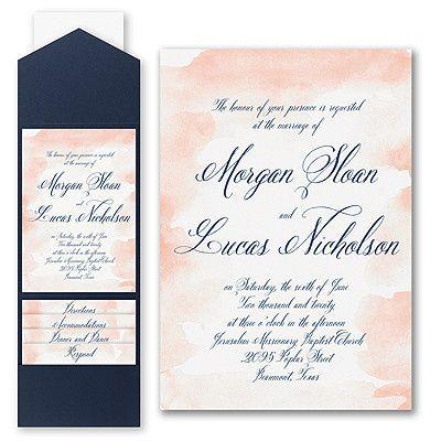 Watercolor pocket invitation