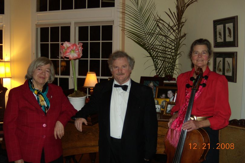 2008 Hamilton Trio  Holiday party--same home for over 14 years.