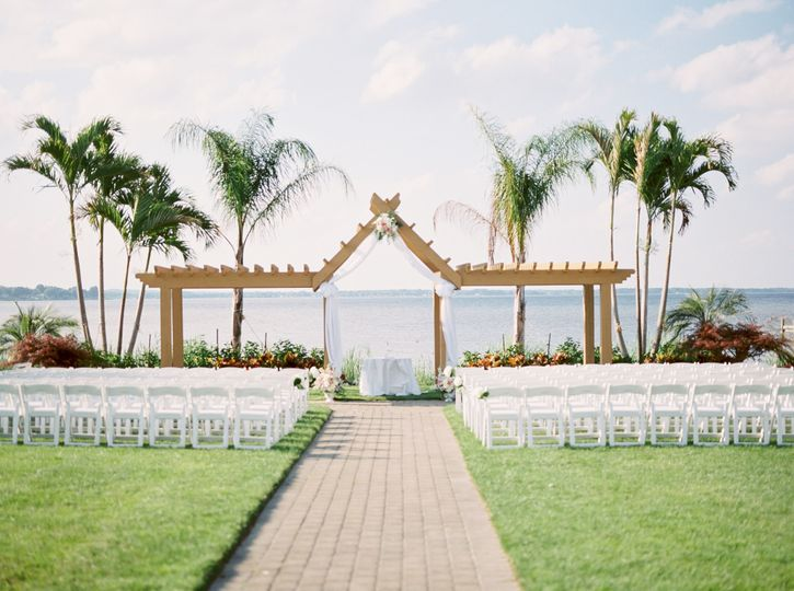 Waterfront wedding space