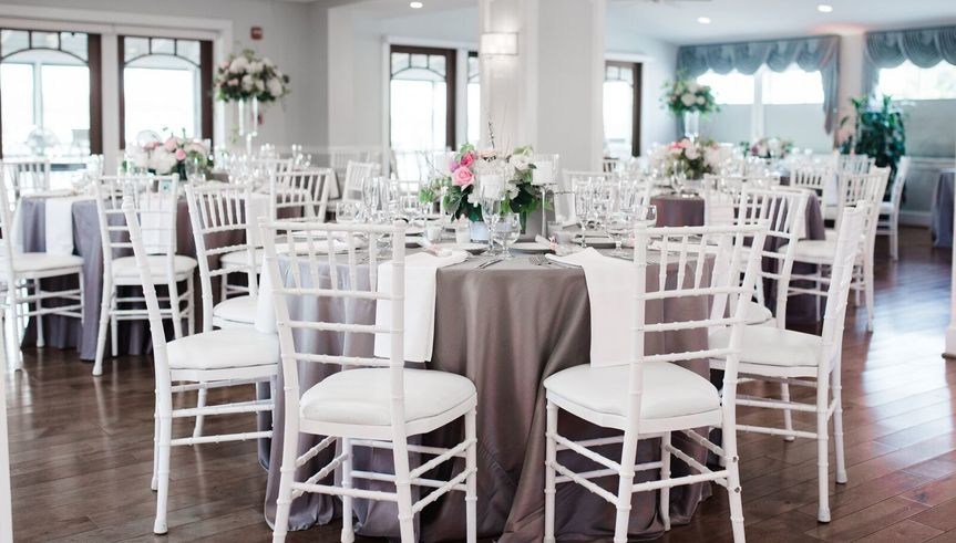 Chic reception tables and chairs