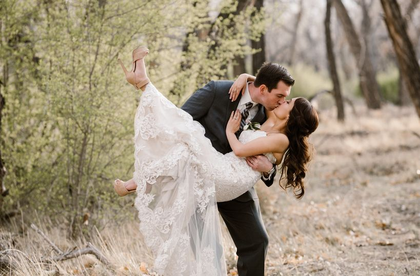 The bride and groom| Blue Rose Photography