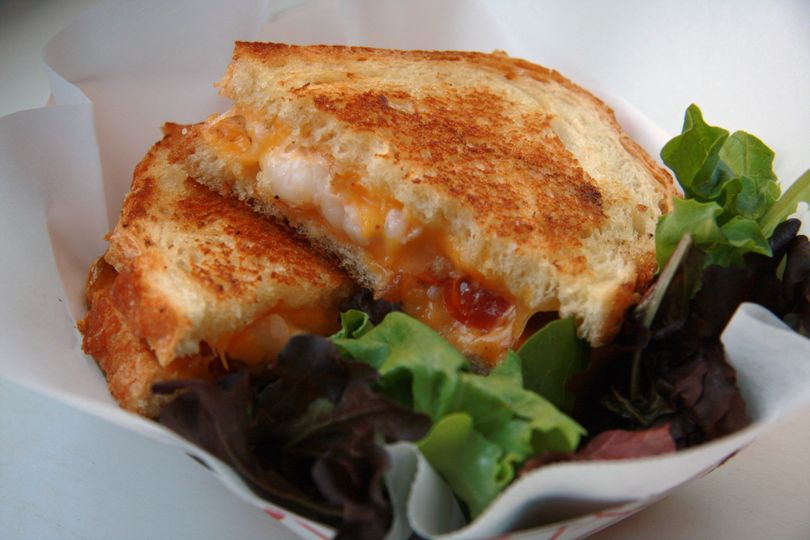 butter poached lobster grilled cheese