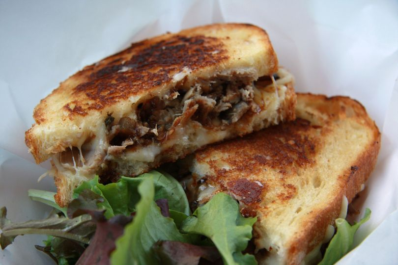 duck confit grilled cheese