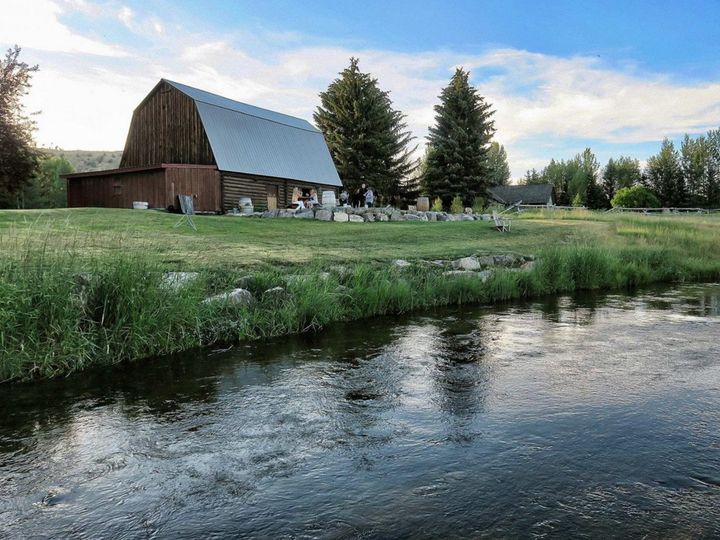 Tmx 1480442016322 Creek And Back Of Barn Teton Village wedding catering