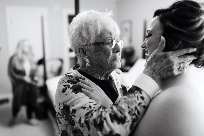 Bride and her grandmother.