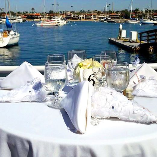 East Patio with spectacular views of Newport Harbor