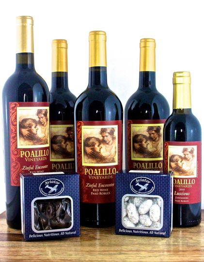 Aviator Gourmet Almond selection pair very well with wine, family, and friends!
