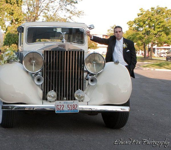 A New Groom at Victoria in the Park with his 1937 Rolls Royce