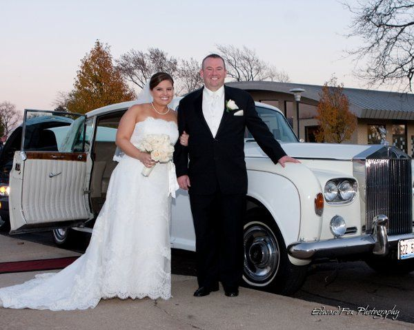 On the Way from their Ceremony to Reception in our 1964 Rols Royce