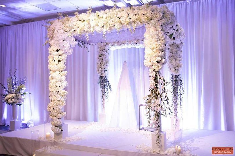 Floral arbor decor