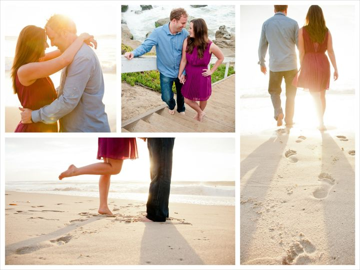 La Jolla San Diego Engagement Portraits Wedding - San Diego Beach Destination Wedding,...