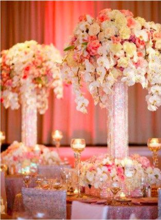 Raised floral decor
