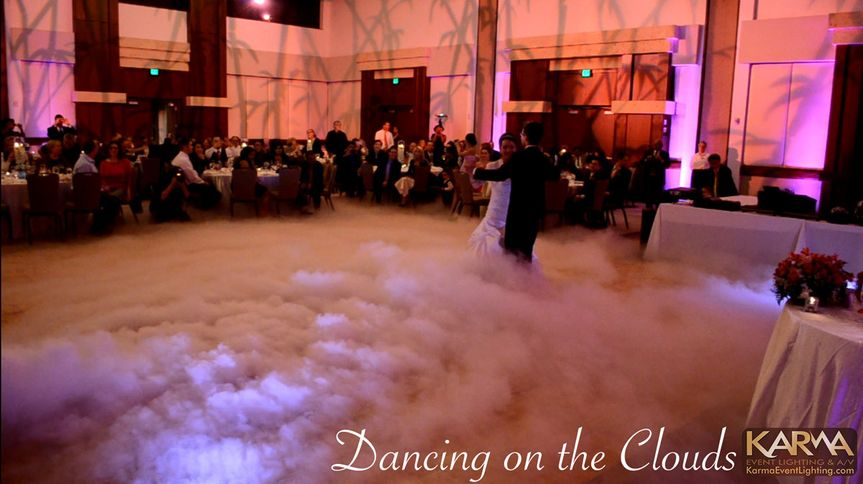 dancing on the clouds by karma event lighting