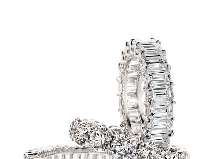 Tmx 1339686980423 3WhiteDiamondBand2 Cedar Grove wedding jewelry