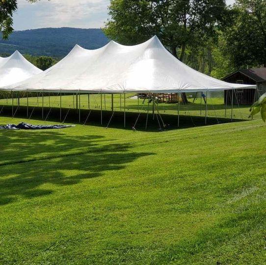 Peaked tent