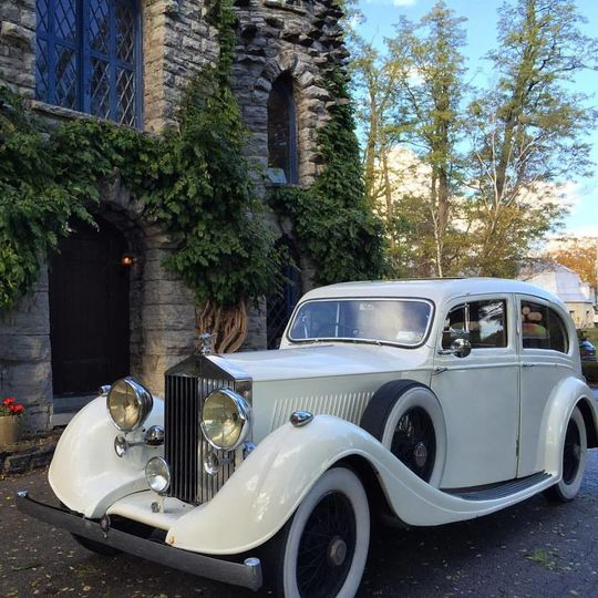 Classic wedding ride