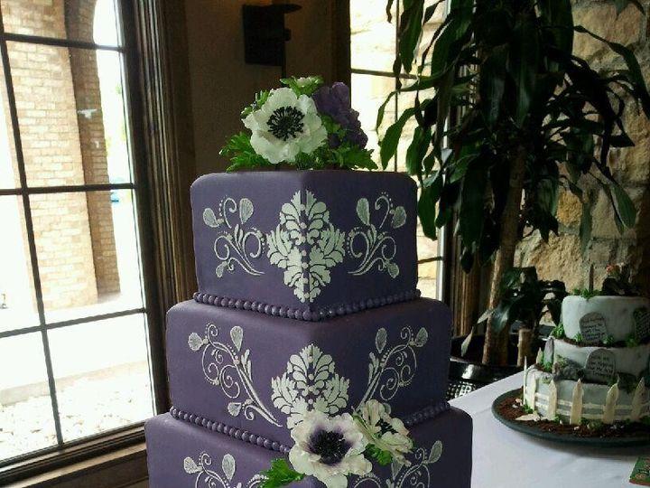 Tmx 1374538625870 Purple Wedding Cake Castle Rock wedding cake