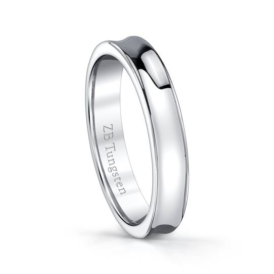 4mm - Highly polished concave design.  Comfort fit