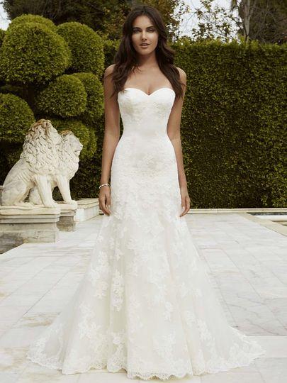 Blue Enzoani-lace & Crepe,tulle bridal gowns