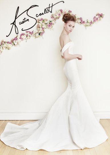 Austin Scarlett- dramatic, simplicity, architecturally designed bridal
