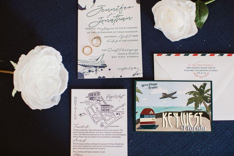 Key West Letterpress Invites