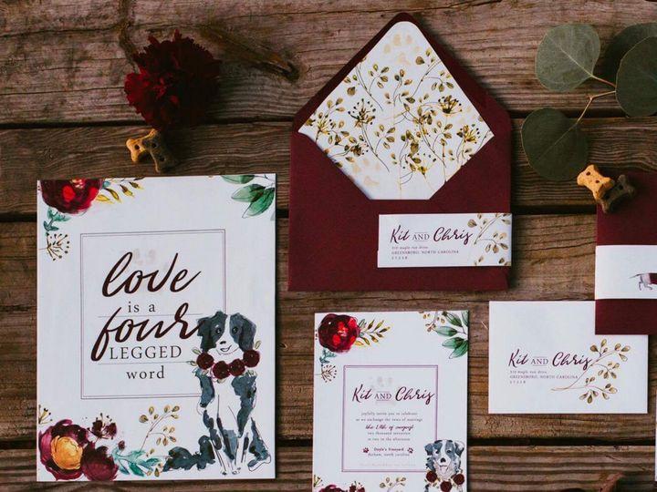 Tmx 1514582441008 Copy Of Invite One 1 Cary, NC wedding invitation