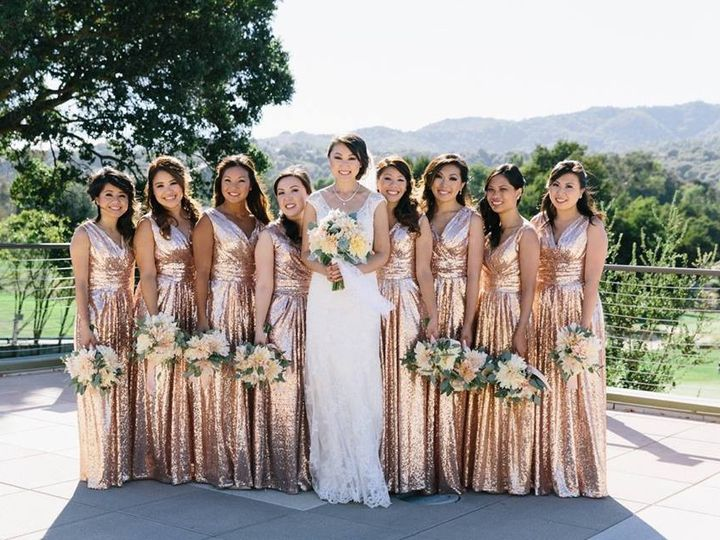Tmx 1457463607283 Bride And Bridesmaids On Terrace San Rafael, California wedding venue