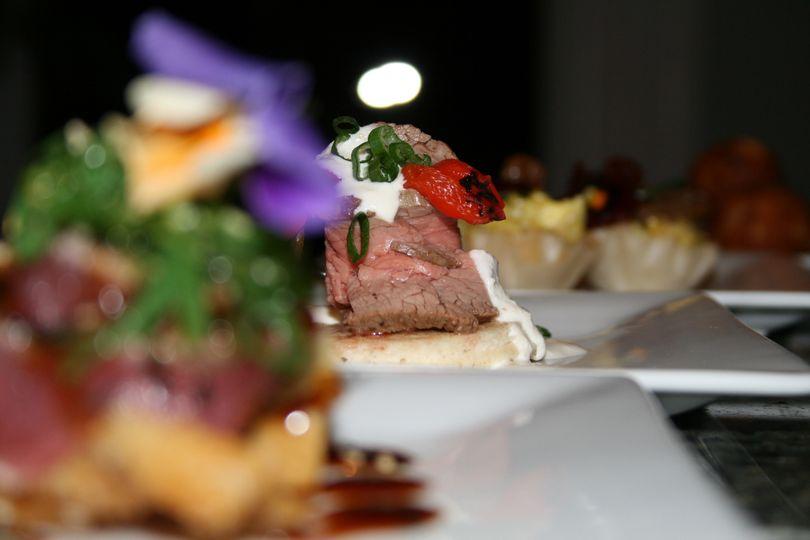 Beef tenderloin canapé