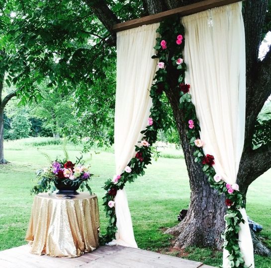 barker ceremony draping