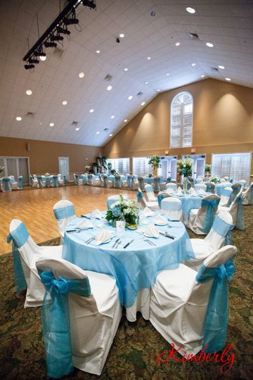 Blue table and chair decor