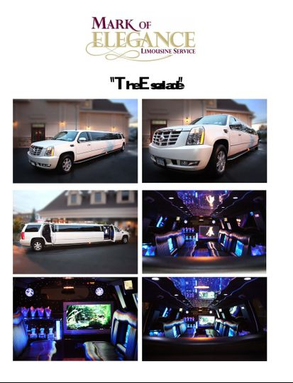Our custom 20 and 22 passenger Escalade! Includes a fifth door for easy entry access, elevated...