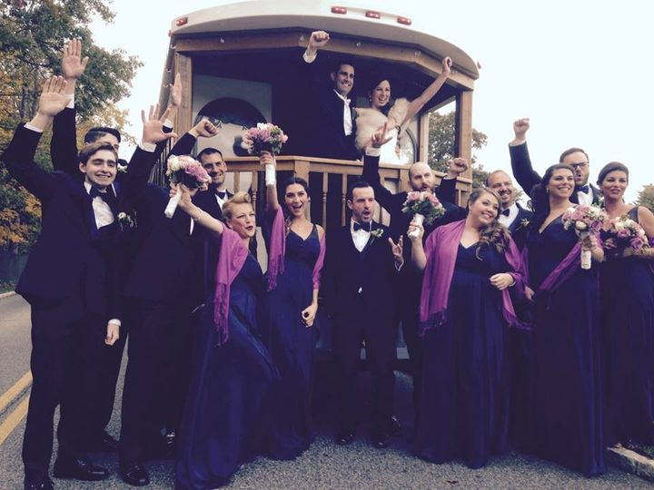 Bridal Party fun on our Trolley!
