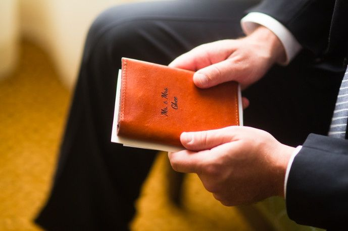 Groom's vow book