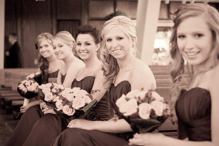A row of women