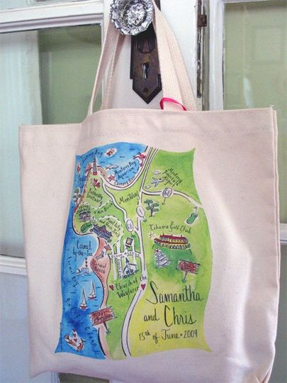 Destination wedding  in Carmel, California  organic tote bag