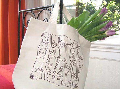 Destination wedding in Half Moon Bay, California organic  tote bag