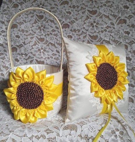 sunflower basket pillow 6