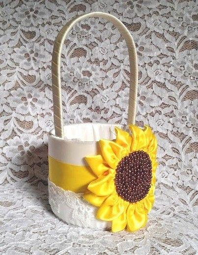 sunflower basket 1