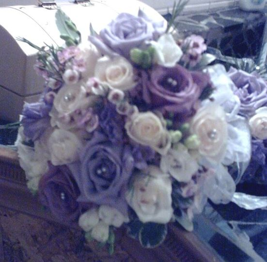 Rose bouquet featuring 3 shades of lavender