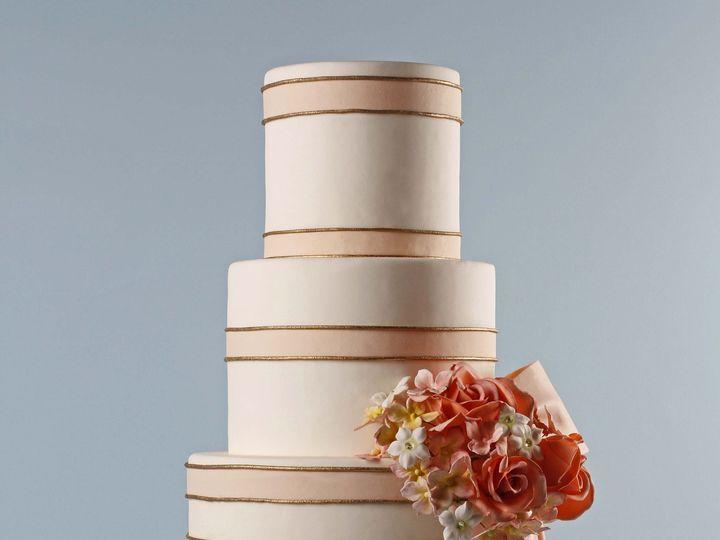 Tmx 1371017055427 Pink Stripe Seattle wedding cake