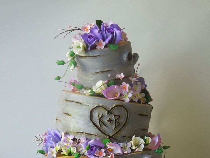 Tmx 1371017260377 Purple Cherry Tree Cake Seattle wedding cake
