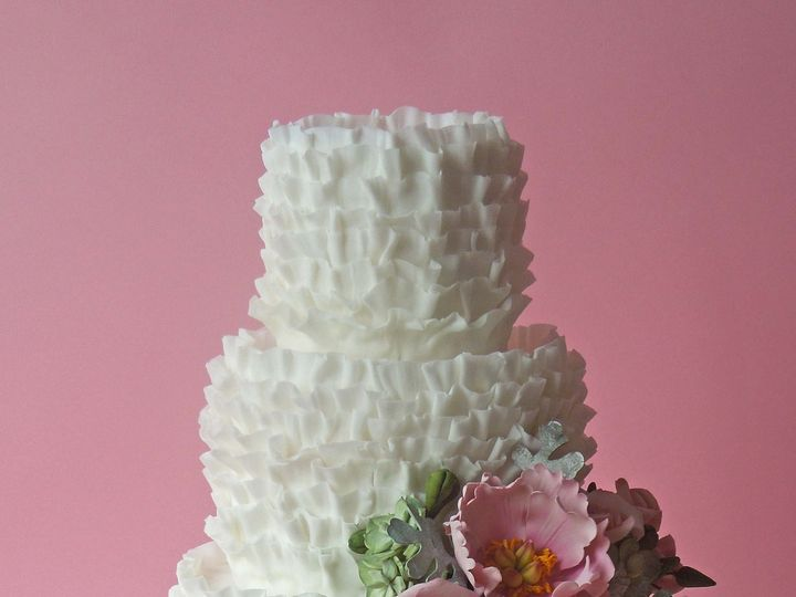 Tmx 1371017324892 White Ruffle Seattle wedding cake