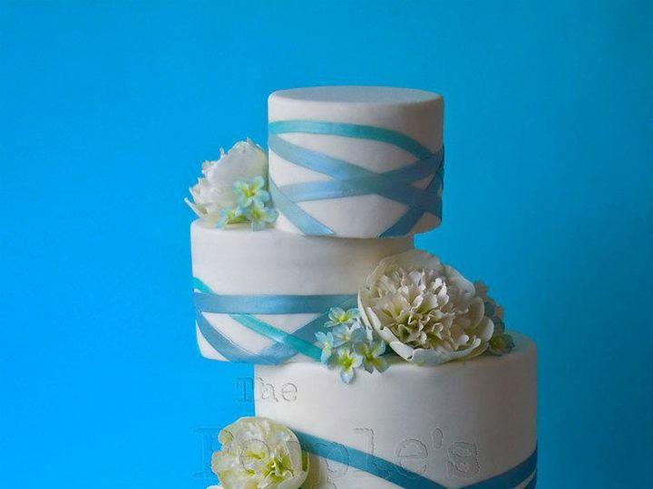 Tmx 1371017838687 Ombre Criss Cross Seattle wedding cake