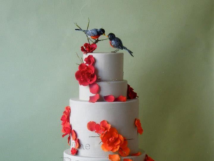 Tmx 1371017899701 Ombre Flower Swirl Seattle wedding cake